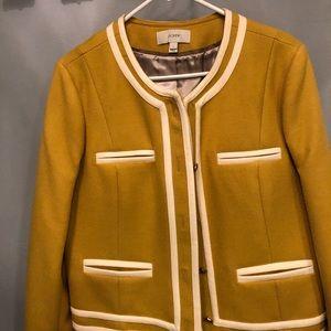 J crew rare lady blazer jacket, with trim.
